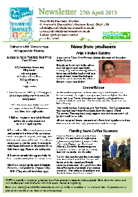 Newsletter April 2013