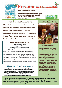 Newsletter Dec 2012