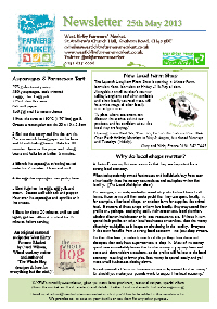 Newsletter May 2013