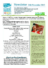 Newsletter Nov 2012