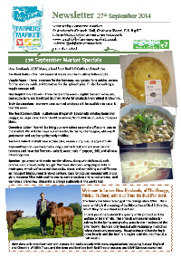 Newsletter September 2014